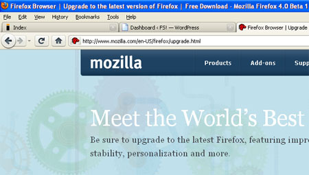Tabok az URL sáv fölött, semmi felesleges ikonsor, egy gombbá összeolvadt Stop és Refresh