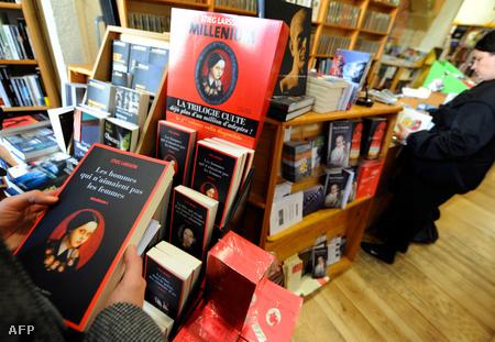 Larsson könyvei egy francia könyvesboltban (Fotó: Gerard Julien)