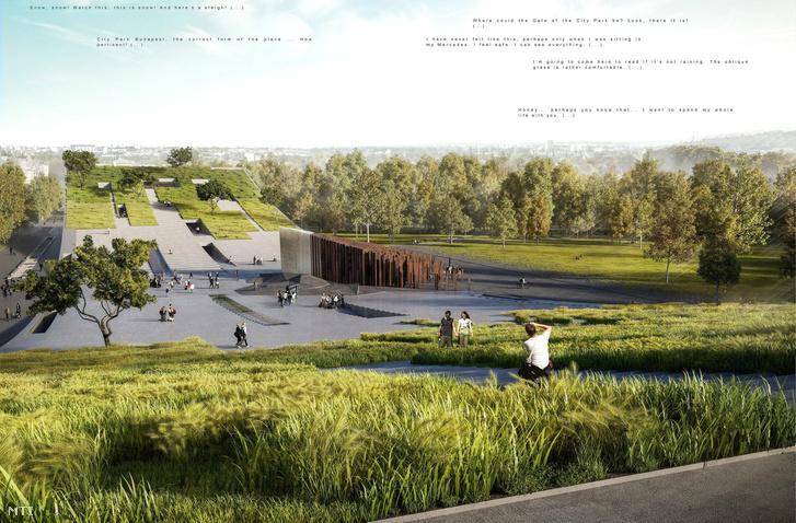 A Városliget Zrt. által a Néprajzi Múzeum új épületére kiírt nemzetközi építészeti tervpályázat nyertesének a Napur Architect Kft. által vezetett konzorciumnak a látványterve