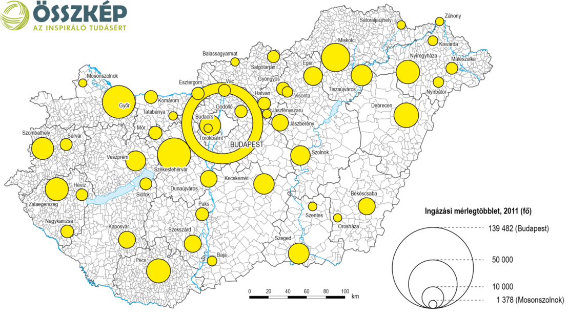 magyarország térkép mátészalka Index   Gazdaság   Térképen az ingázók három Magyarországa magyarország térkép mátészalka