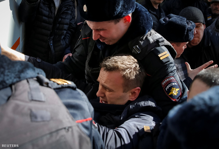 Navalnij őrizetbe vétele