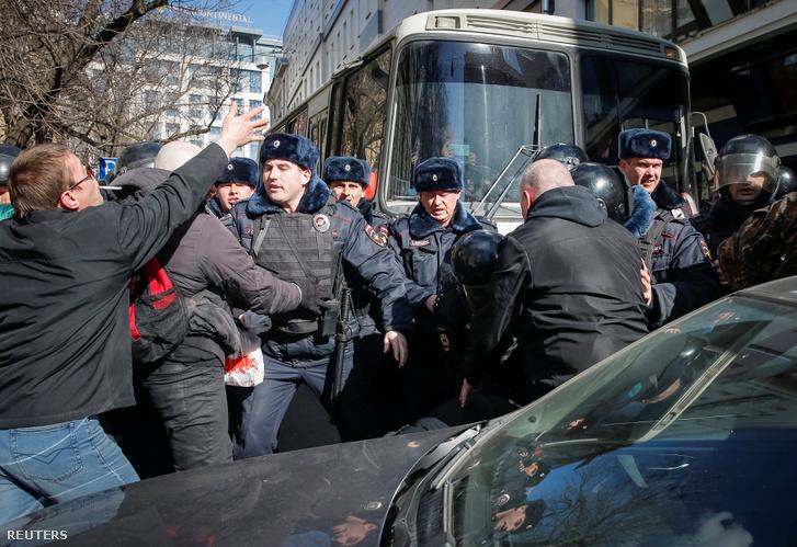 Többeket őrizetbe vettek a moszkvai tüntetésen