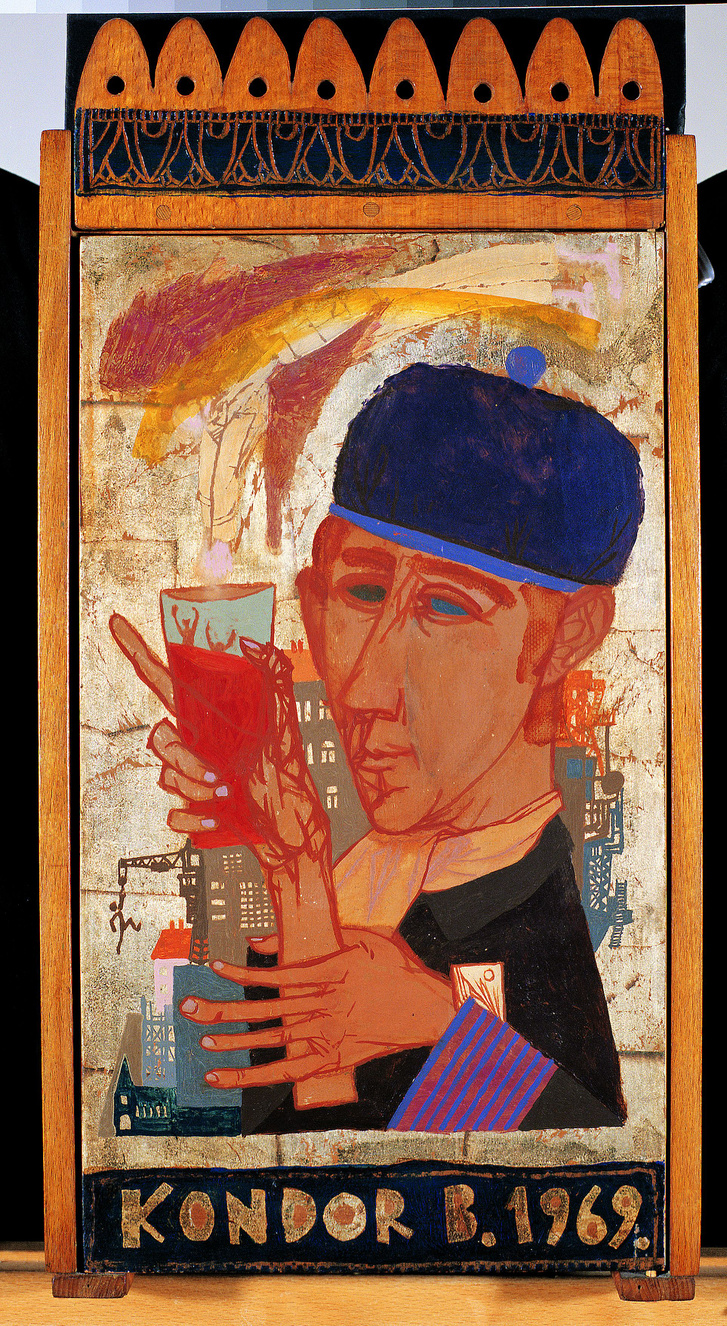 Faliszekrény (1969) olaj, fa