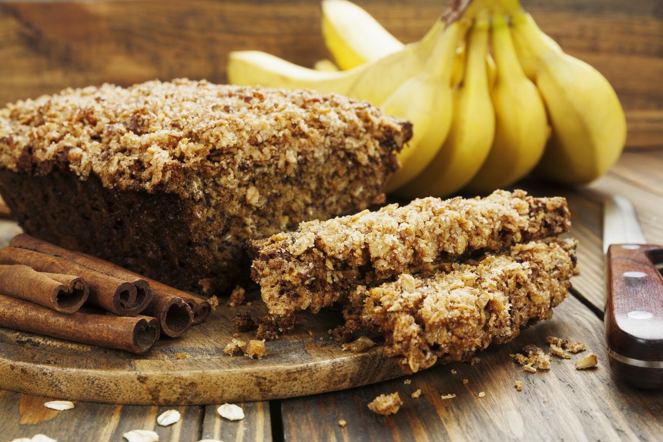 Laktató banános-zabpelyhes sütemény - Nem nagyon kell figyelni, mennyit eszel