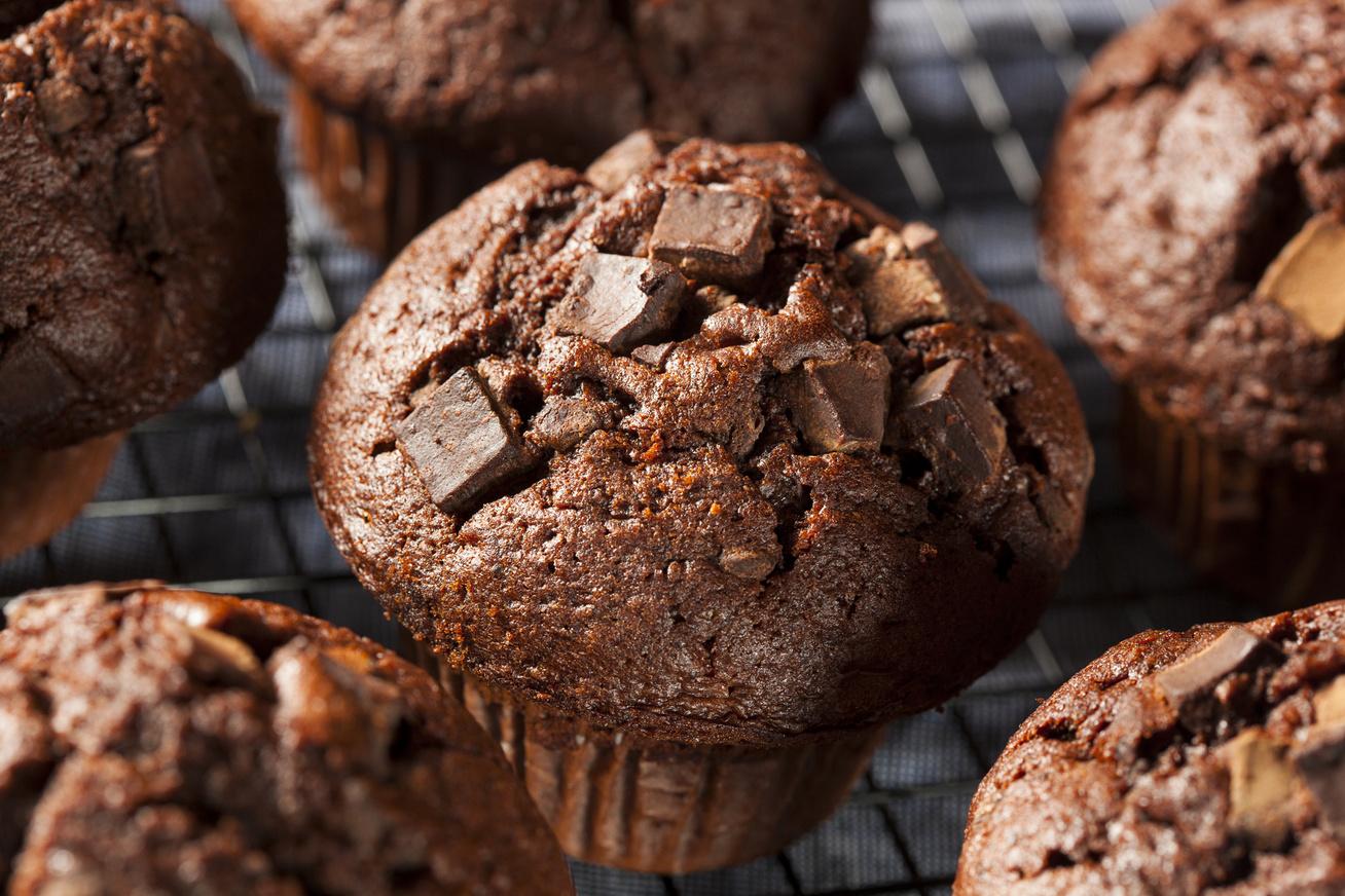 Gluténmentes csupa csokis muffin - A tésztája napokig puha marad