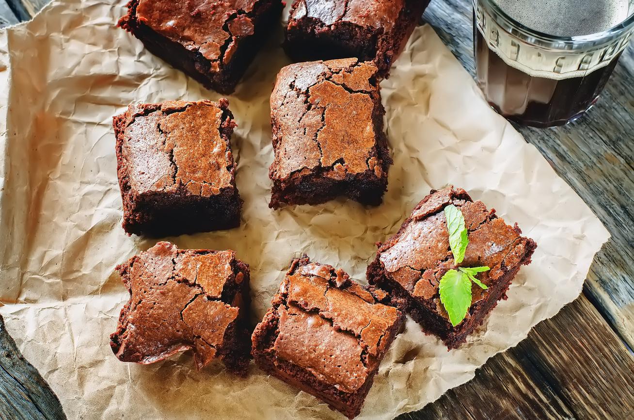 30 perces banános brownie