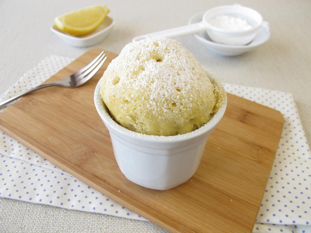 Egyszemélyes bögrés vaníliás süti mikróban sütve