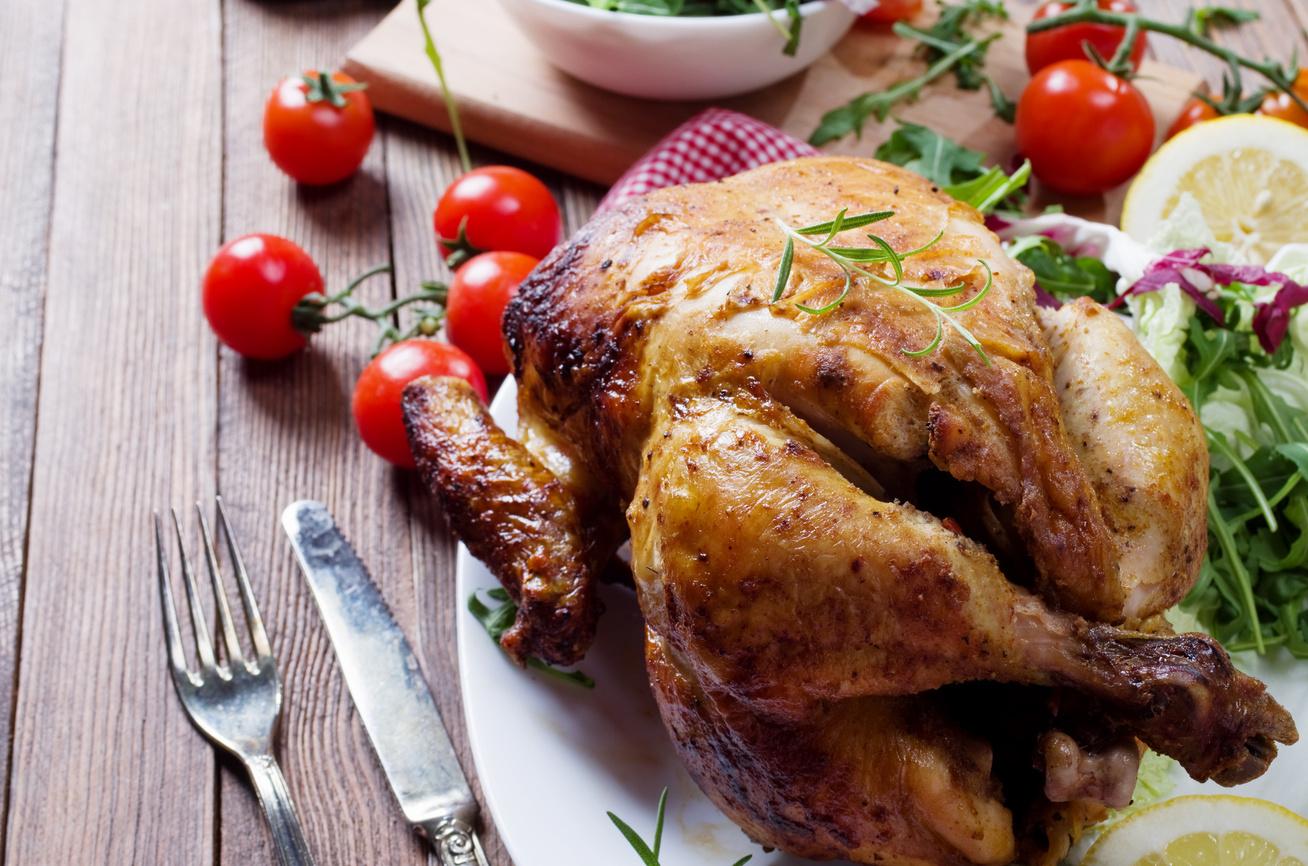 Grillen sült citromos-fűszeres csirke