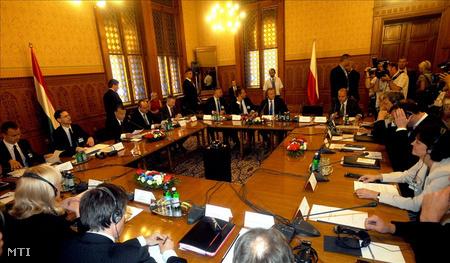 A visegrádi országok (V4) kormányfőinek csúcstalálkozója Budapesten