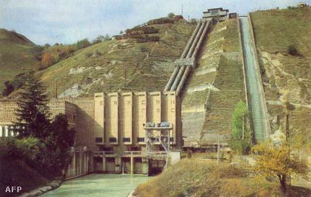 Archív felvétel a vízierőműről