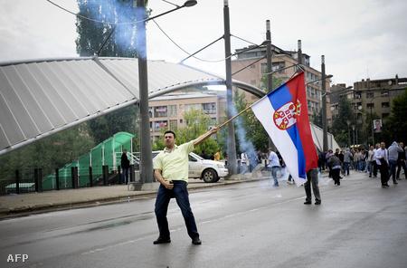 Szerb tiltakozó