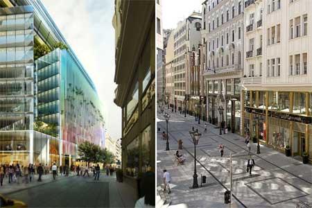 A tervezett Új Városközpont és a Fashion Street
