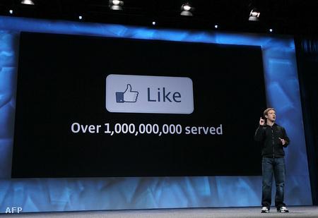 Mark Zuckerberg a San Francisco-i f8 fejlesztői konferencián 2010. április 21-én (Fotó: Justin Sullivan/Getty Images/AFP)