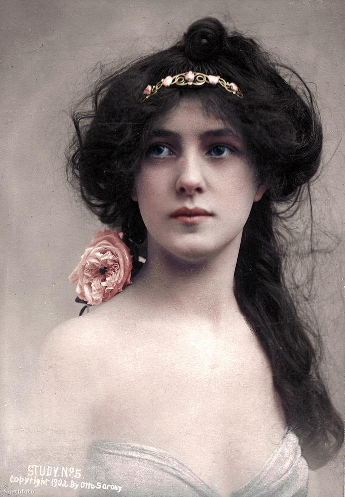 Evelyn Nesbit 1884-ben karácsony napján született Pennsylvaniában, ez a kép 1902-ben készült róla