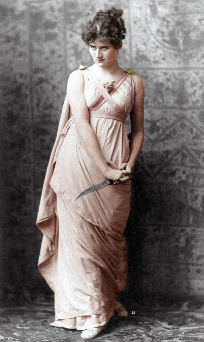 Na de térjünk vissza a felújított divatfotókhoz! Ezen a képen Mary Anderson amerikai színésznő látható, a fotó eredetije 1883-as!