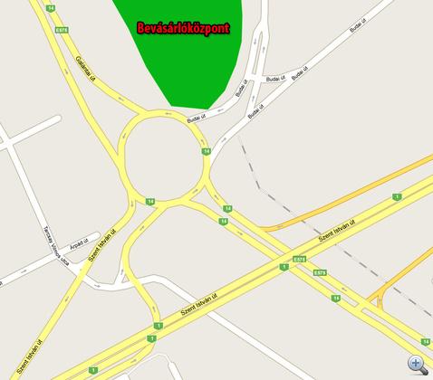 A kereszteződés térképe