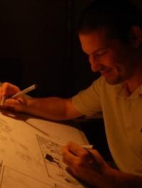 Tebeli Szabolcs (Brazil), Alfabéta-díjas képregényrajzoló (fotó: Turchányi Emese)