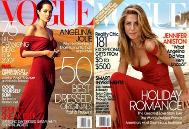 Jolie vs. Aniston az amerikai Vogue címlapon