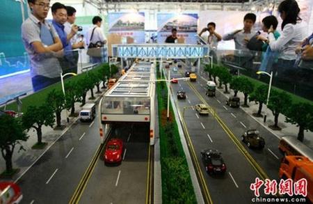 A terpeszbusz modellje a májusi pekingi expón