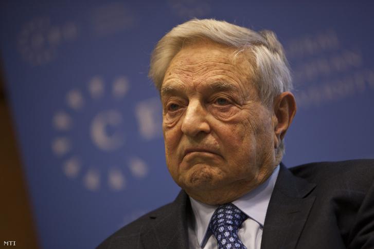 Soros György a Soros Alapítvány elnöke a Közép-európai Egyetem (Central European University CEU) alapítója