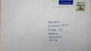 Egy svéd férfinak kézbesítették Vlagyimir Putyin levelét