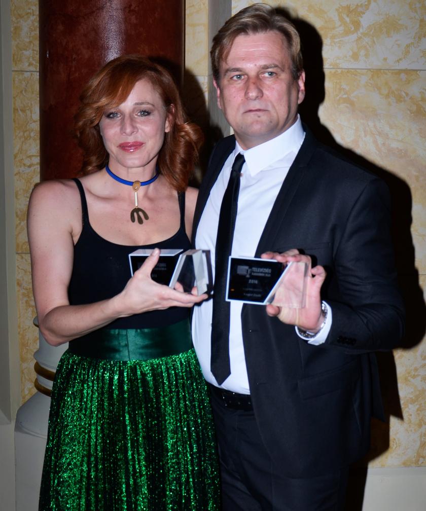 A legjobb színésznő Ónodi Eszter, míg a legjobb színész Anger Zsolt lett - mindketten az Aranyélet című sorozatban nyújtott alakításukért kapták a díjat.
