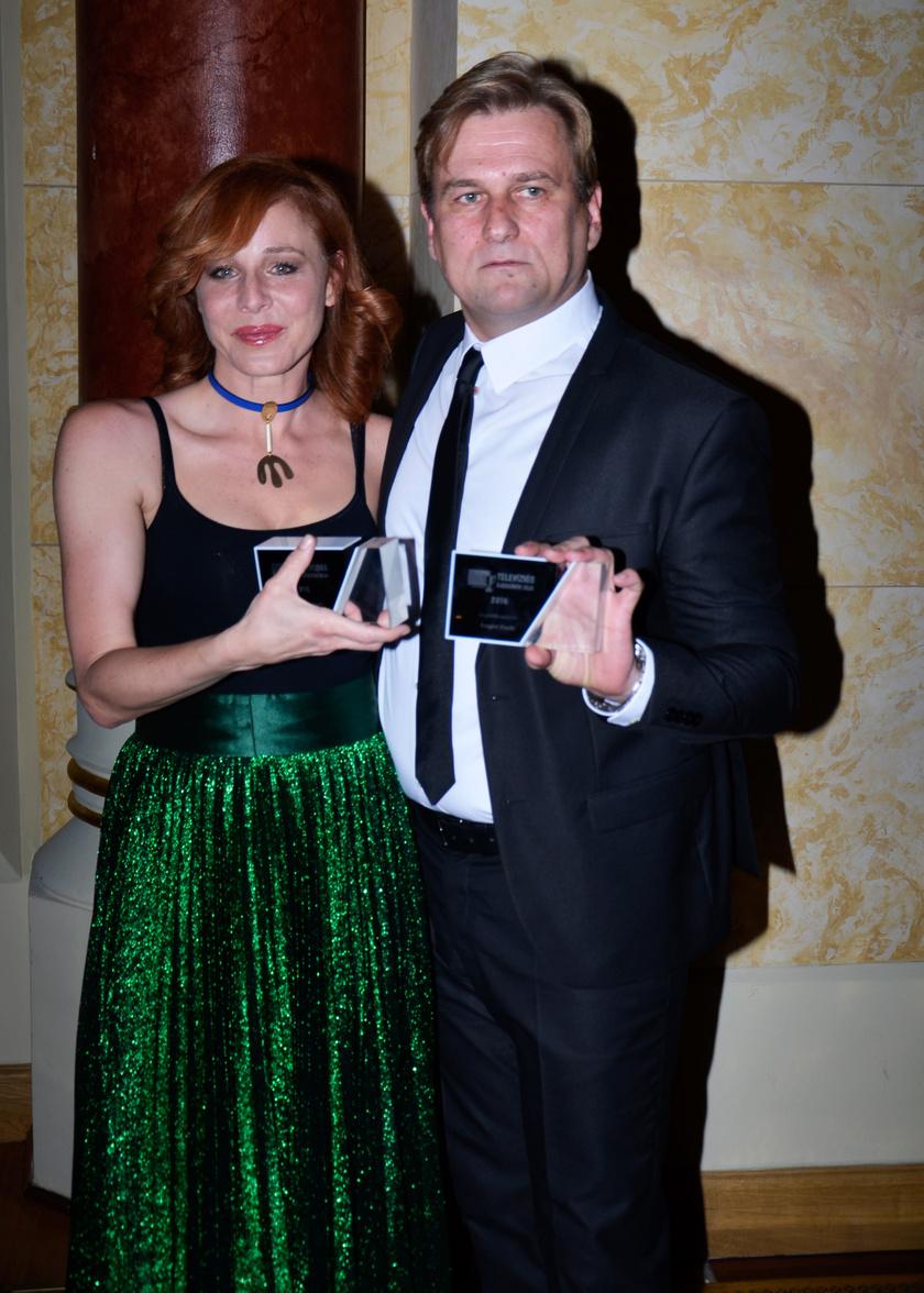 Ónodi Eszter a legjobb színésznő, Anger Zsolt, az Aranyélet főgonosza a legjobb színész díját vihette haza.
