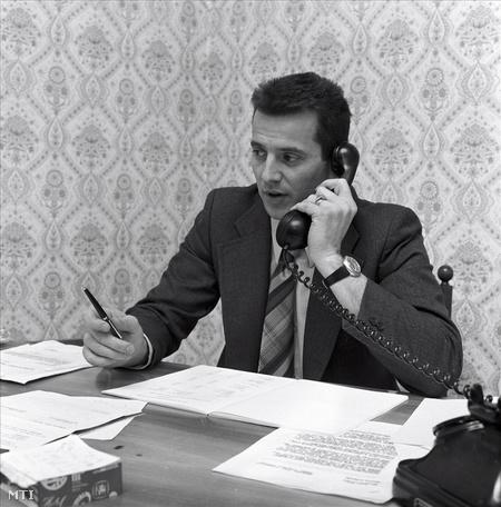 Schmitt Pál 1976-ban a a budapesti Astoria Szálló igazgatóhelyetteseként(Fotó: Danis Barna)