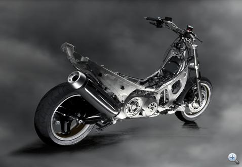Szerintem meztelen motorként is lenne piaca. Az aluváz gyönyörű