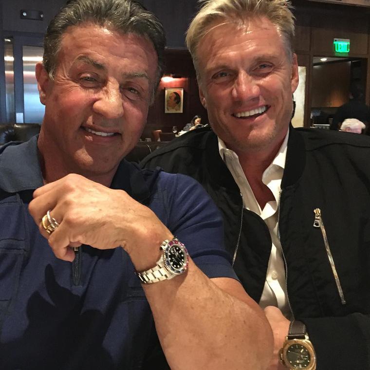 Stallone és Dolph Lundgren - együtt szerepeltek a sorozat korábbi részeiben.
