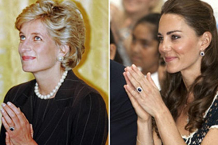 Diana hercegnő és Katalin hercegnő hasonló stílusa 549d6612b8