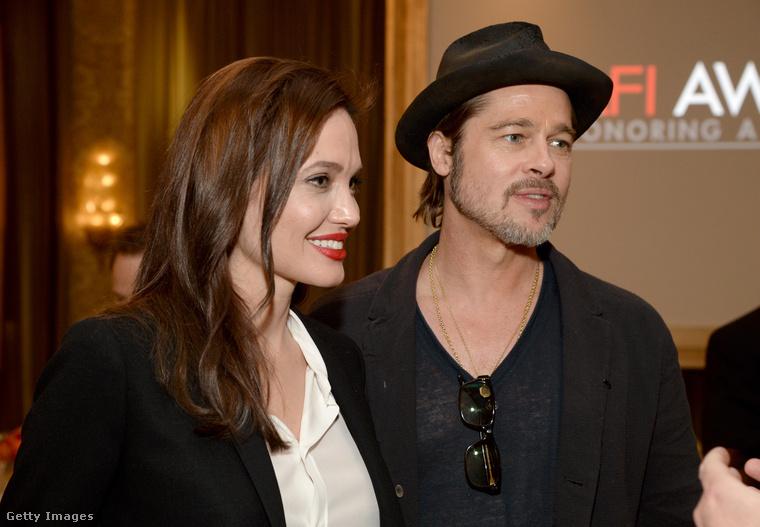 Angelina Jolie és Brad Pitt korábban
