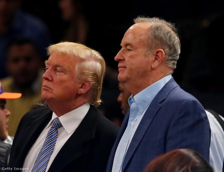 O'Reilly és Donald Trump egy 2014-es sporteseményen