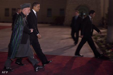 Barack Obama és Hamid Karzai találkozója Kabulban 2010 márciusában