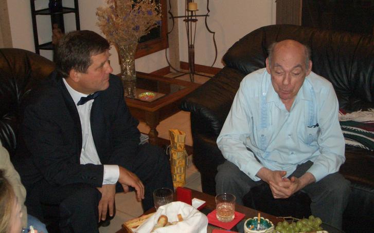 Starker János otthonában a születésnapjára adott koncert után 2003-ban