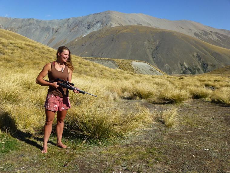 Miriam Lancewood a vadászatba is beletanult