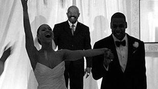 Különleges kép került elő Beyoncé és Jay-Z esküvőjéről