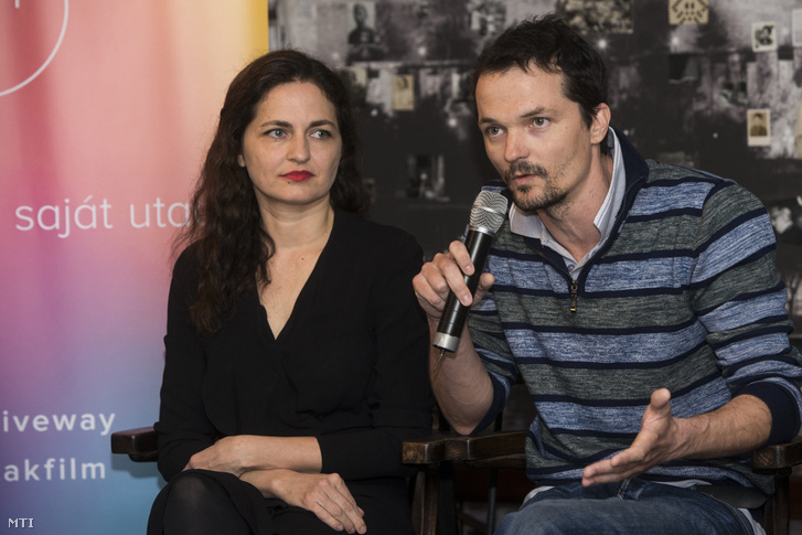 Marozsán Erika és Kasvinszki Attila a sajtótájékoztatón