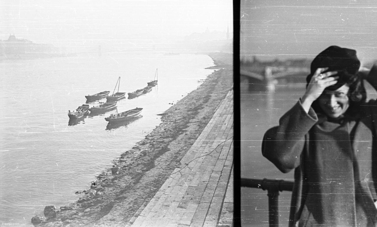 A budai alsó rakpart a Pálffy (ma Bem) tér környékén, 1942                         Pár szedett-vedett csónak – nagyjából ennyi maradt az egykor virágzó dunai halászatból. Pedig száz éve a dunai halászok (a révészekkel és a molnárokkal együtt) még annyira hozzátartoztak a vízi élethez, hogy a  regattákon külön versenyszámban indultak a csolnakász-egyletek mellett.