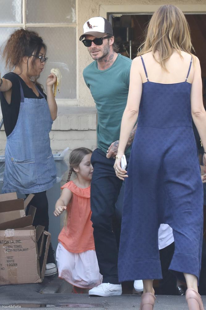 A népszerű focista és az ex-popsztár, Victoria Beckham kislánya pont olyan átlagos pocok, mint bármely más, korabeli gyerek