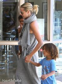 Heidi Klum megérkezik Romeo Beckham zsúrjára