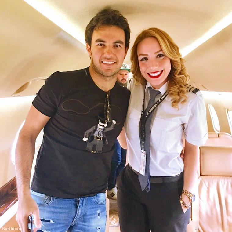 Itt meg Sergio Pérez Forma 1-es pilótára terjeszti ki jókedvét.