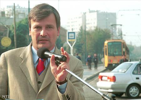 """Demszky és egy """"hannoveri"""" 2002 októberébenFotó: Tóth Gyula"""