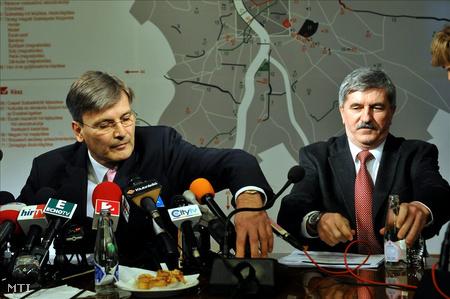 Demszky és Kocsis a városházán. Viszonyuk mindvégig formális maradtFotó: Soós Lajos