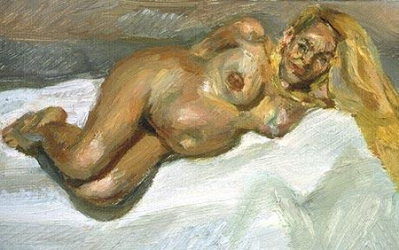 "Lucian Freud: ""Eight month gone"" - akt az állapotos Jerry Hallról"