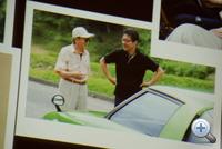 Maeda-szan idősb. Maedával és az általa tervezett RX-7-essel