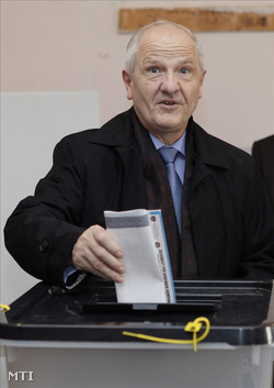 Fatmir Sejdiu koszovói elnök (Fotó: Valdrin Xhemaj)
