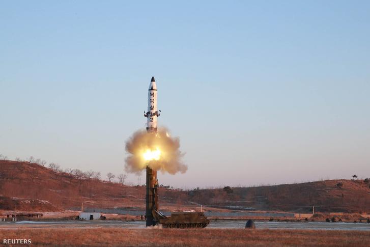 Észak-koreai rakétakísérlet 2017 februárjában