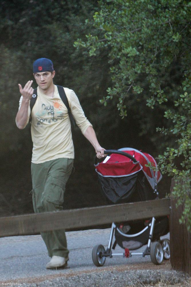 és nem kizárt, hogy a homokzó Eva Mendes után, babakocsit tologató Ashton Kutcherrel is összefutmajd a  Szent István parkban
