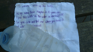 20 évvel később sértetlenül került elő az üzenet, amit egy 10 éves kislány dobott a tengerbe